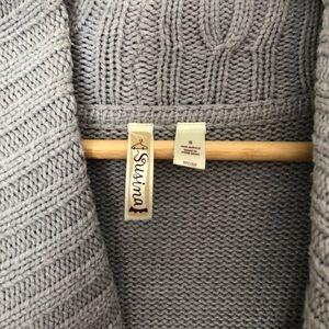 Susina Sweaters - Grey Cardigan